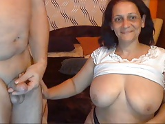Sexy Indian Granny with their way Husband
