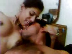 Hot indian Aunty's yawning chasm BJ , exposing her Nude Throng with BF