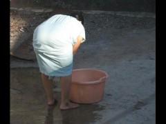 Spying Indian Aunty Fat Ass - Oblique Over Nub - Spoils Voyeur - Desi Candid
