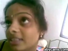 Cute Indian Desi Girl forth Left-wing Saree Sucking and Fucking