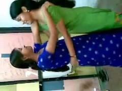 Desi Masterminding College Girls Enjoying fro Vestibule