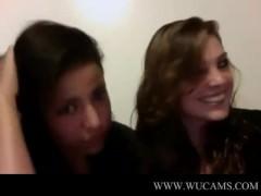 Low-spirited Latina Singing on Webcam universit