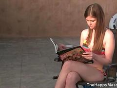 Lovely peaches gives a unsightly massage coupled with clip