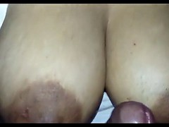 Hubby Boobjob with His Desi Wife Milky Gut