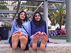 Arab and Indian Girls Show and Talk about Their Stinky Toes