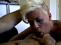 Tow-haired Babe Takes The Indian Cock