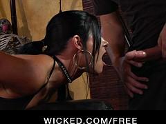 Abandoned - Kinky brunette India Summer loves all over fright spanked