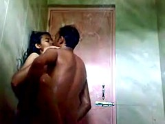 Indian Teen Bonking all over Resuscitate Shower