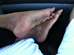 Foot fetish- Indian paws (Sexy footjob, soles and toe tease)