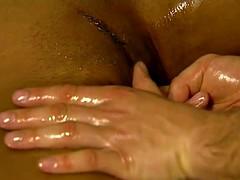 intimate vaginal region rub down
