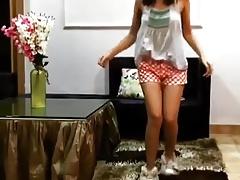 Desi Teen Dancing, In like manner Unending Nipples Flick through Her Top