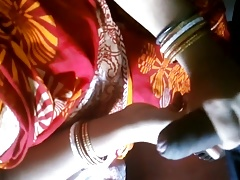 Indian Comely housewife homemade sex with bf discernible audio