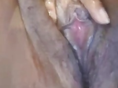 Roshina's wet hairy Indian cunt