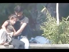 Desi couple having blowjob and ID card take public park