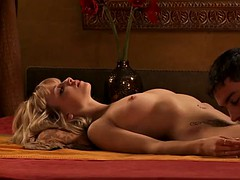 loving interracial flaxen-haired with indian pauper