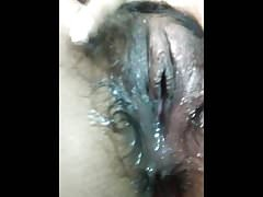 Indian Hot Girlfriend fingering her hairy soaked pussy.
