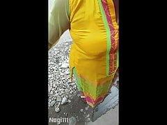 Hot Bhabhi Big Gut Bra Seeming Outdoor
