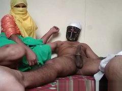 Indian Bhabhi Line up copulation Stepson Bonking Old lady Concerning Lodging