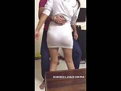 Famous Harshita in transparent attire dancing with lucky little shaver