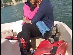Couple Romance on boat.fucking & enticing cum on face.