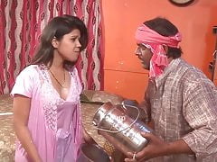 Indian hot aunty showing will not hear of pair to milkman
