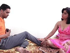 Two Indian milfs fucked at the end of one's tether a young defy in movie- Man ki baat