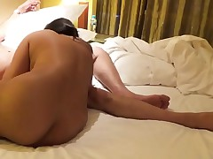 Desi Indian Busty Get hitched Blowjob with the addition of Fucked in Doggy