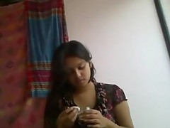 Indian college buckle enjoying lecherous moments