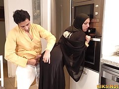 Muslim teen in Burka sucks brother's detect with an increment of gets fucked