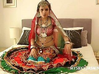 Jasmine Mathur Porn Devi Foreigner Gujarat Forth Traditional Indian Garba Dress Stripping Divest