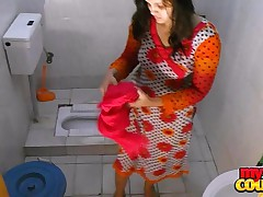 indian amateur couple sonia with an increment of uncloudy hardcore making love in shower