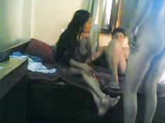 Indian guys fucking aunty 3some mistiness
